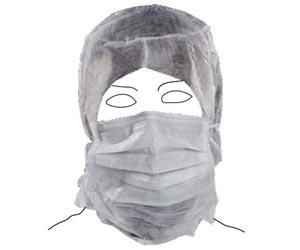Cappuccio in polipropilene (PLP) integrale (con mascherina)