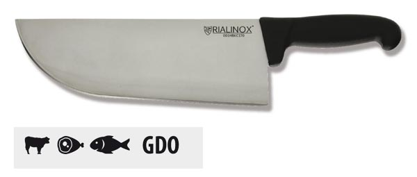 CAT01 - Coltello RIALINOX FOOD - Modello DA COLPO tipo lama larga
