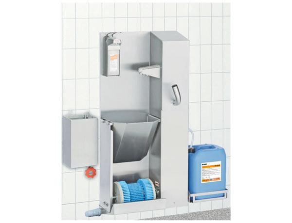 CAT03 - Stazione fissa pulizia suole e lavaggio mani
