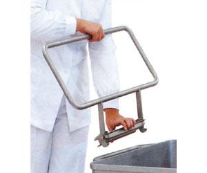 Maniglia ergonomica vagonetto lt. 200 inox