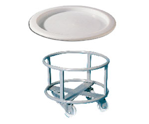 Accessori per bidoni: carrello in acciaio inox e coperchi