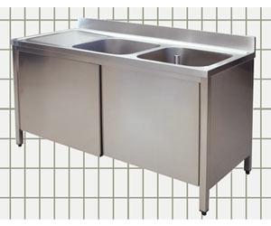 Lavatoio armadiato - 2 vasche - sgocciolatoio