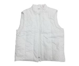 Gilet colore bianco senza maniche